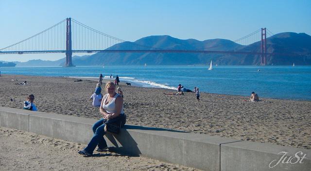 Bild Jule und Golden Gate