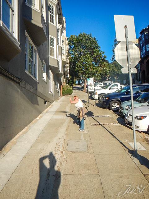 Bild Lombard Street bergauf Teil 2