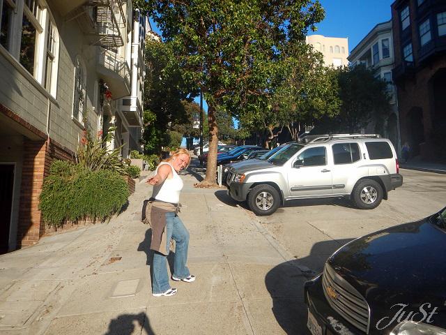 Bild Lombard Street bergauf