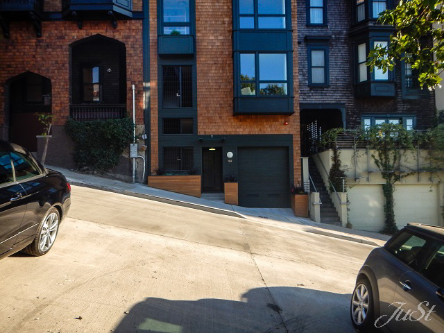 Bild Schräge an der Lombard Street