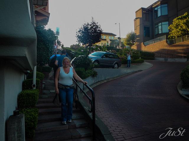 Bild Und noch mehr Treppen die Lombard Street runter