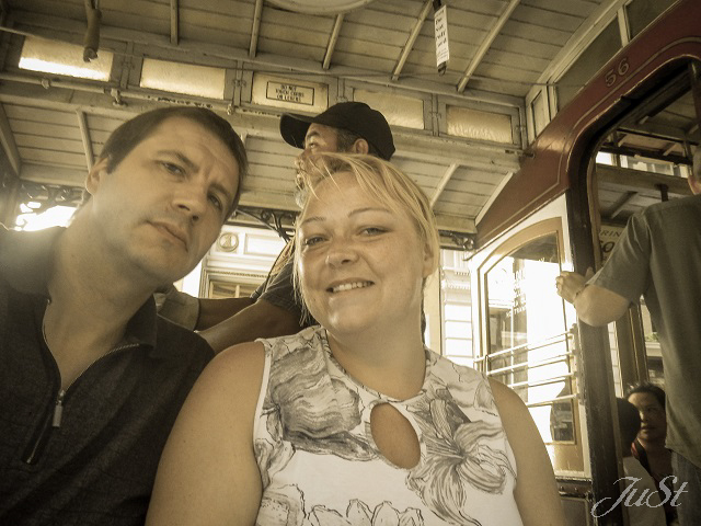 Bild Wir in der Cable Car