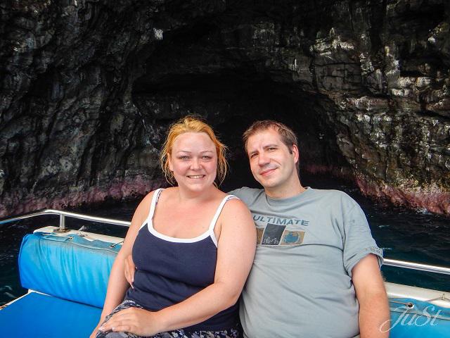 Bild Wir in der Na Pali Höhle