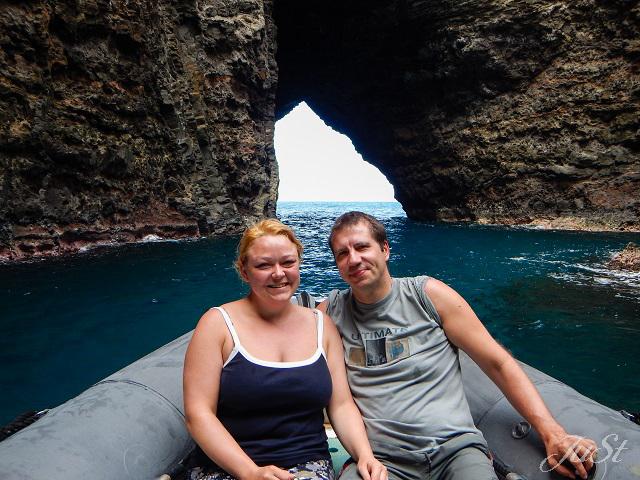 Bild Wir in der Na Pali Höhle mit Ausgang
