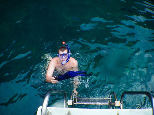 Bild Alex kommt aus dem Wasser an der Na Pali