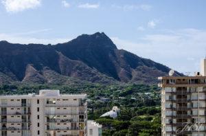 Bild Blick auf den Diamond Head vom Hotel