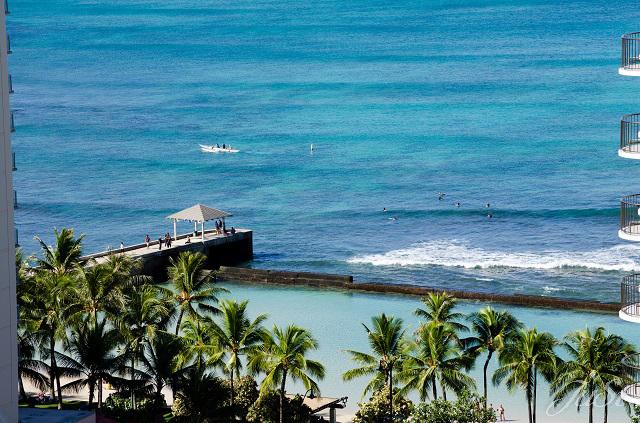 Bild Blick aus dem Marriot auf Waikiki Beach