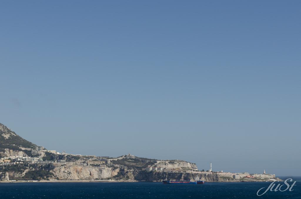 Bild Gibraltar vom Schiff aus