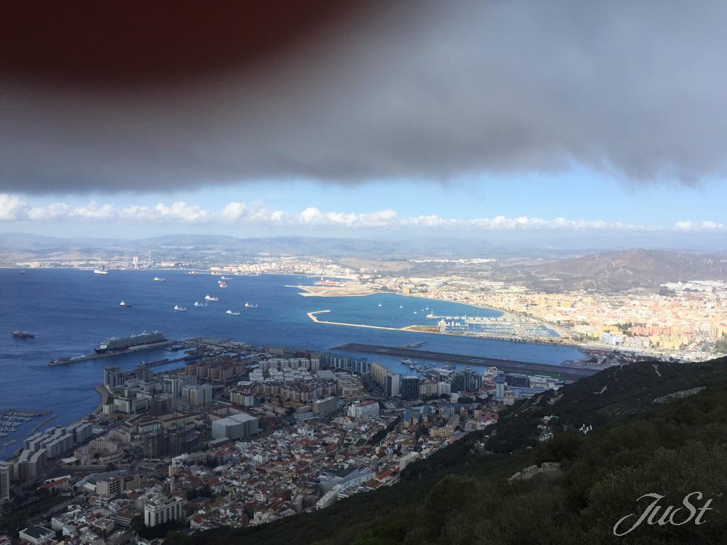 Bild Gibraltar und Spanien vom Affenberg aus