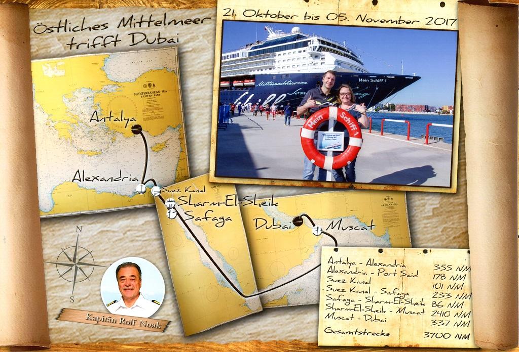 Route Antalya nach Dubai