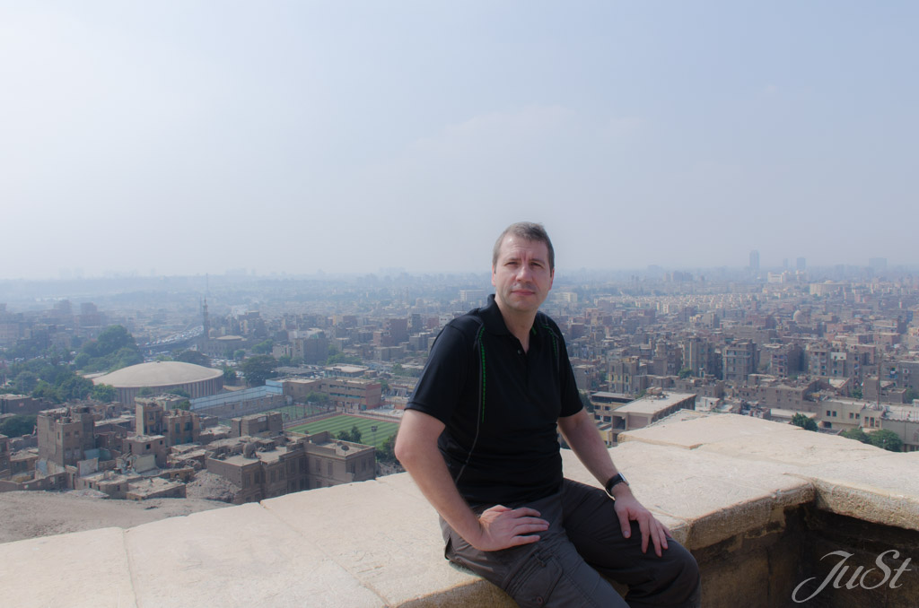 Alex mit Blick auf Kairo