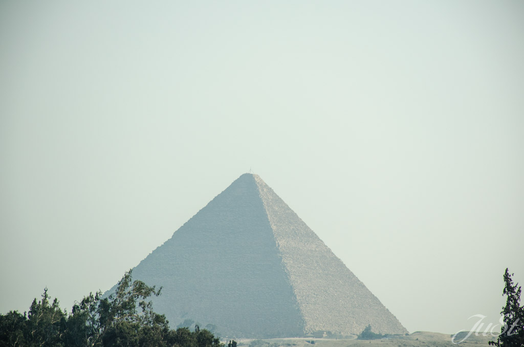 Der erste Bilck auf die Pyramide