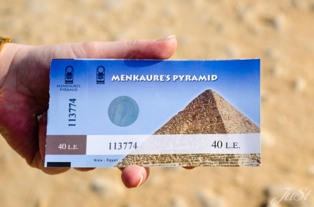 Eintrittskarte Pyramide