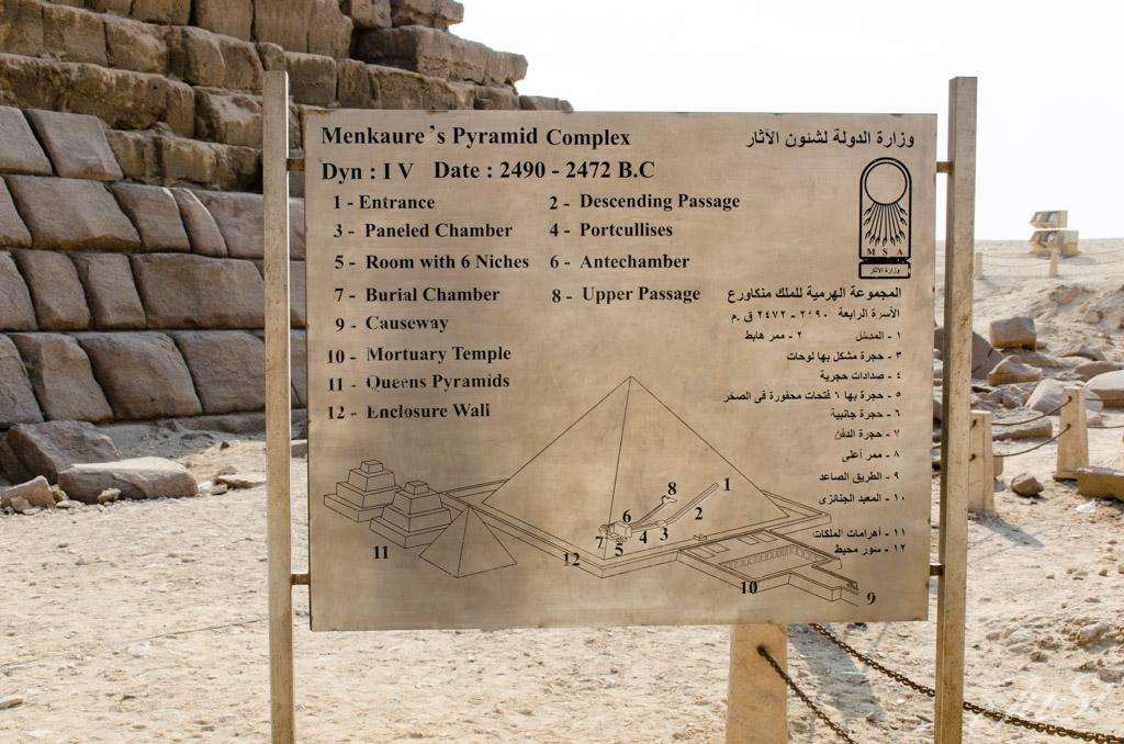 Beschreibung der kleinen Pyramide