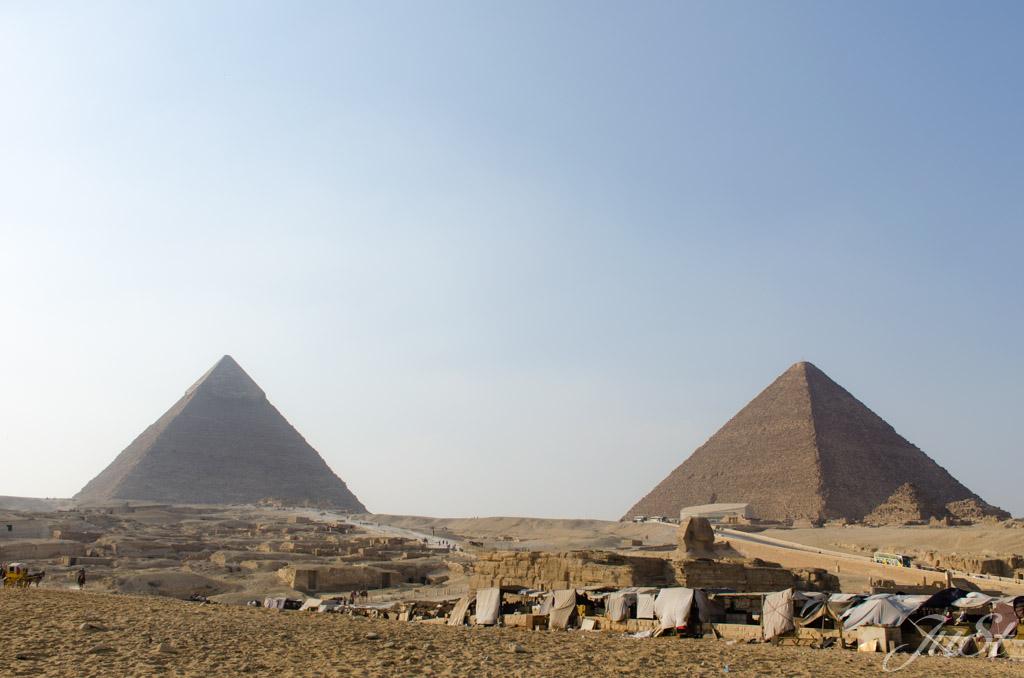 Pyramiden und Große Sphinx von Gizeh