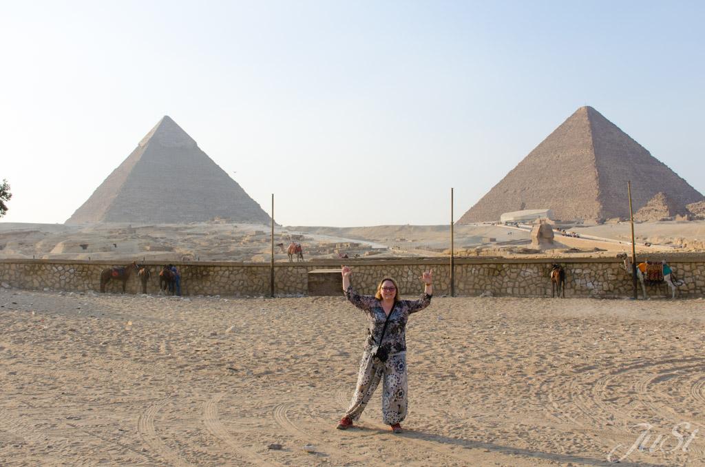 Jule,Pyramiden und Große Sphinx von Gizeh