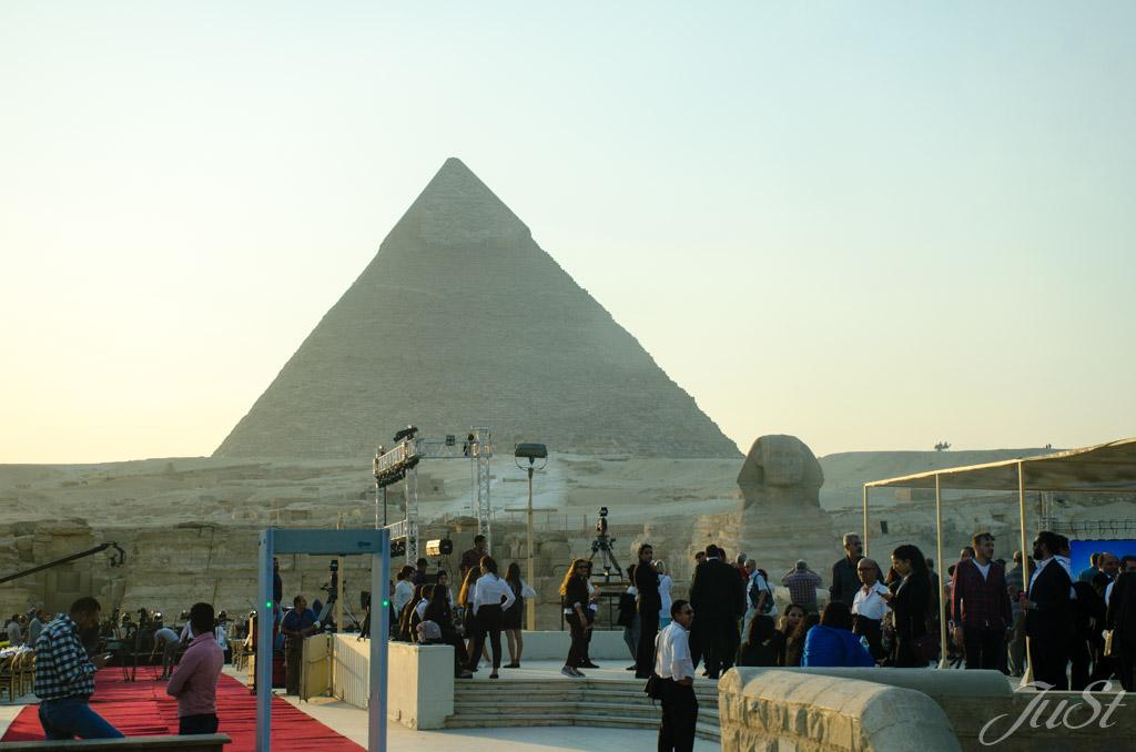 Pyramide und Große Sphinx von Gizeh