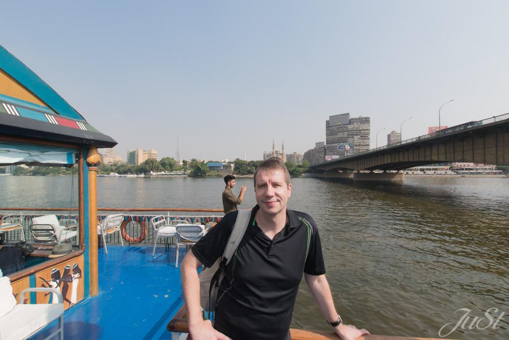 Alex auf dem Nilboot in Kairo