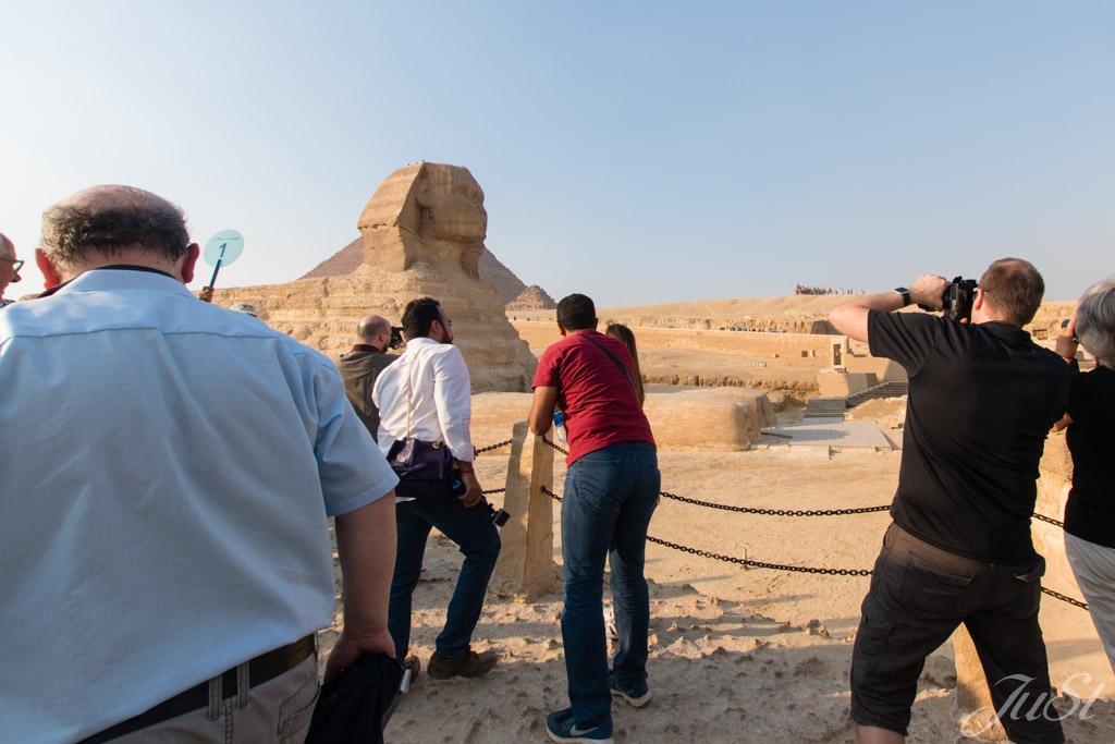 Alex vor der Große Sphinx von Gizeh