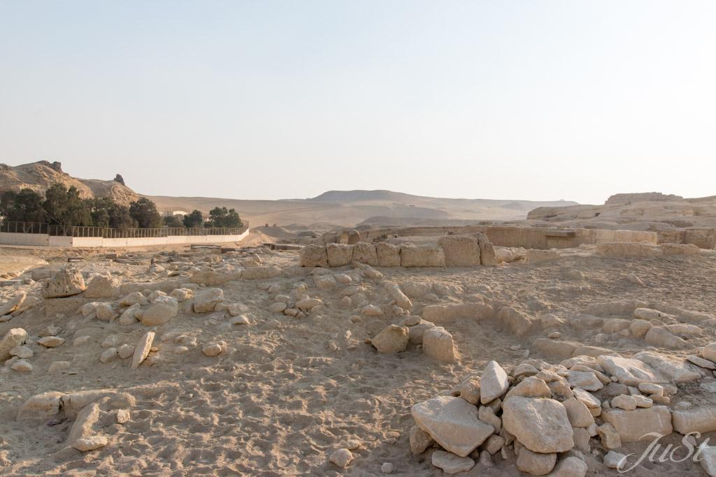 In der Nähe der Große Sphinx von Gizeh