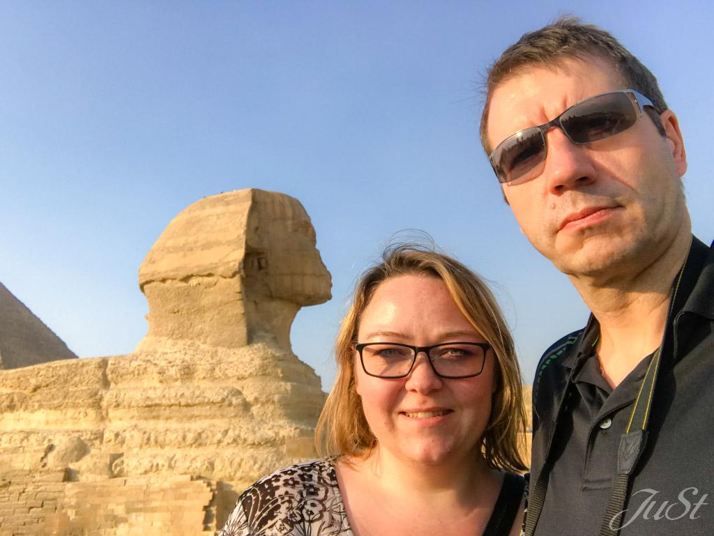 Wir vor der Große Sphinx von Gizeh