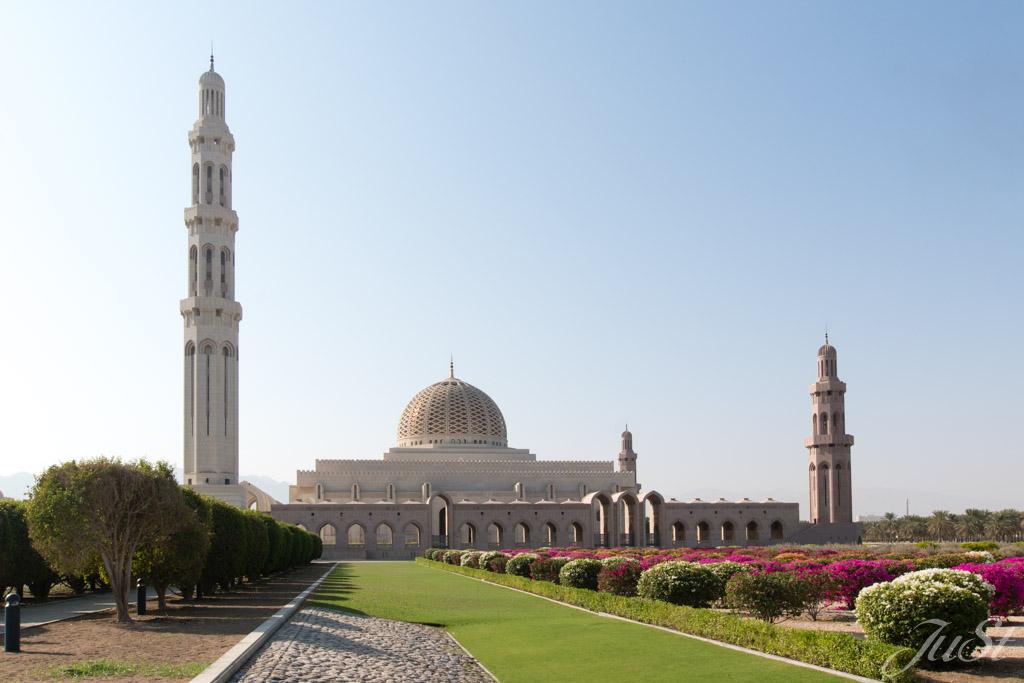 Großaufnahme Muscat Moschee