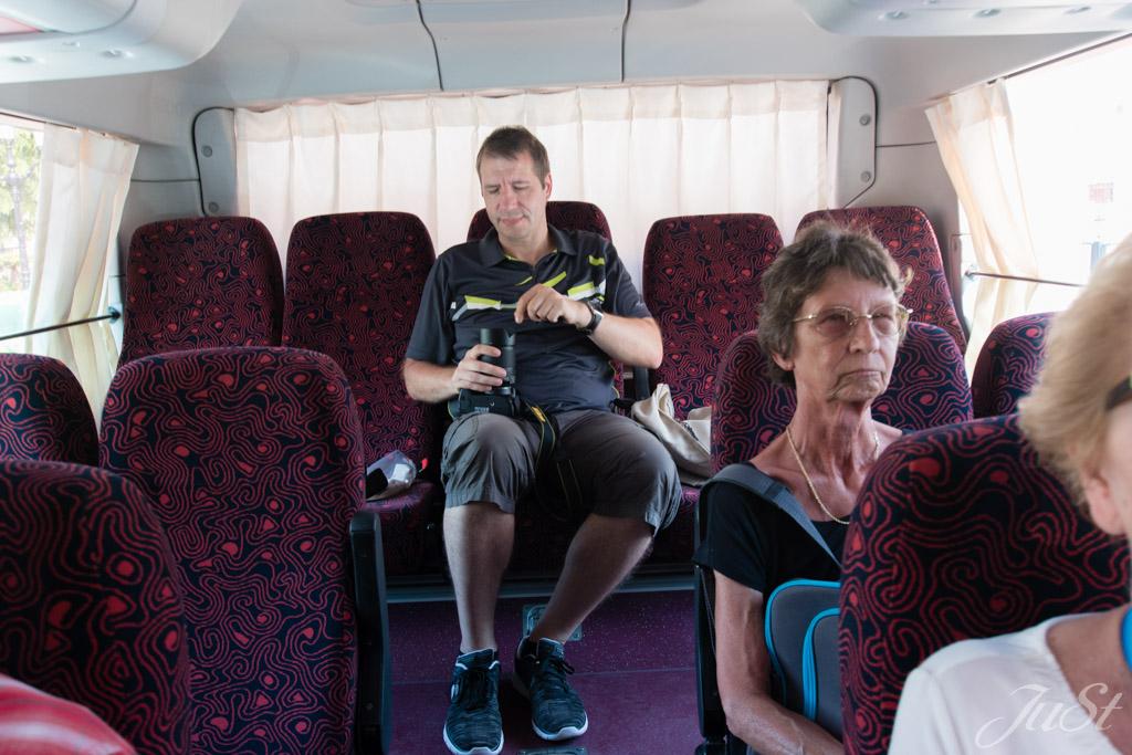 Busfahrt in Muscat