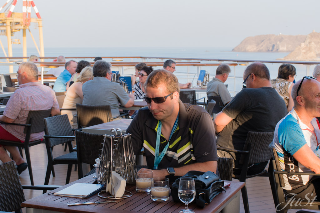 Alex an Bord Mein Schiff 1 in Muscat