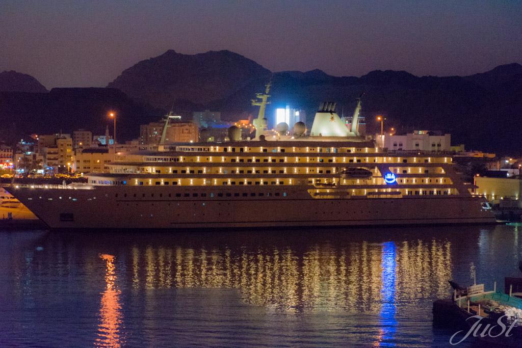 Königliche Jacht in Muscat
