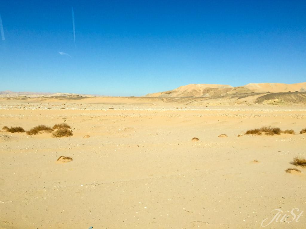 Wüste auf dem Weg nach Luxor