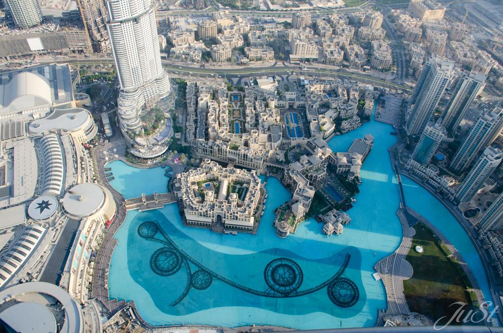 Wasserspiele von oben