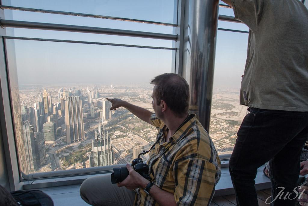 Alex in der Aussichtsplattform