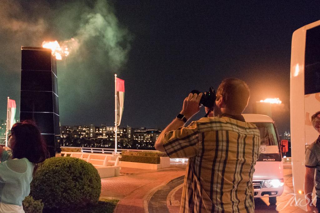 Feuer vorm Burj Al Arab
