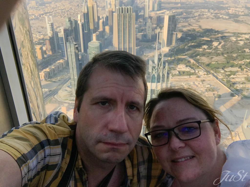 Selfie im Burj Khalifa