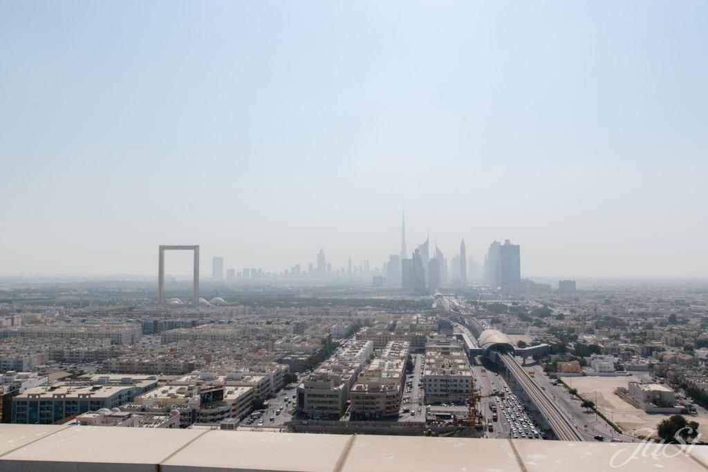 Blick vom Hoteldach auf Dubai