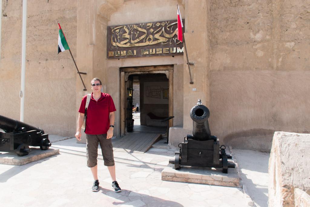 Ente vor dem Dubai Museum