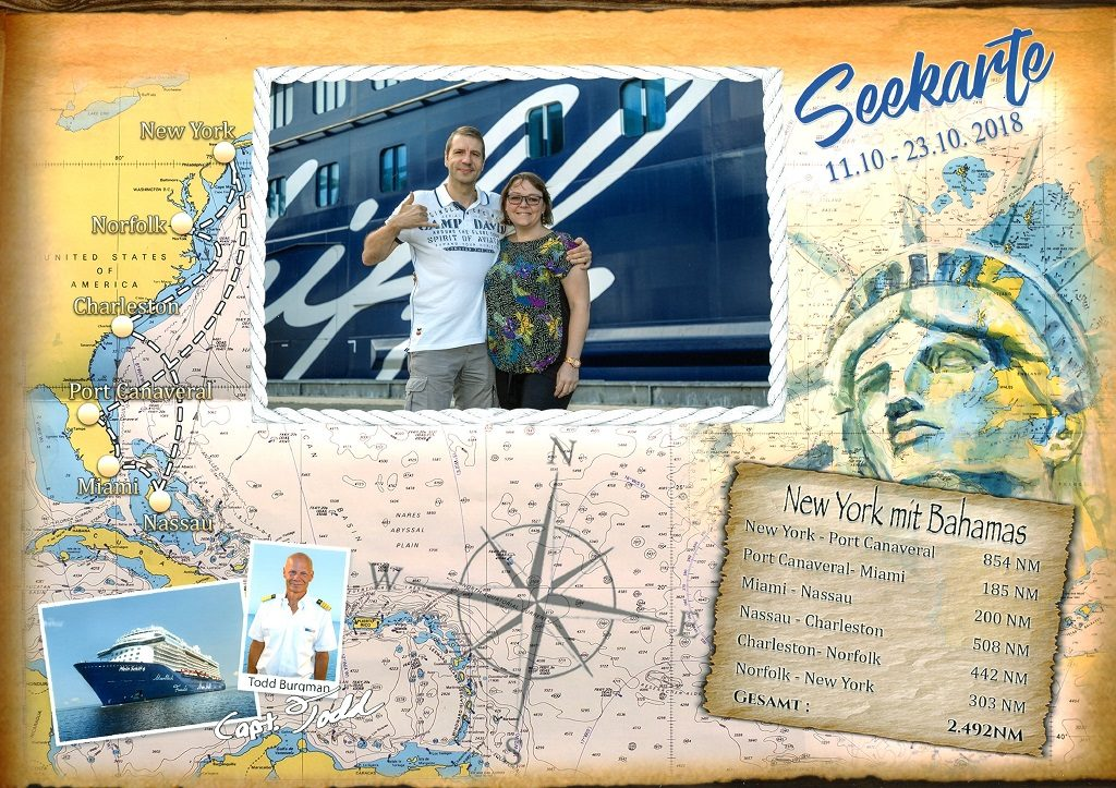 Seekarte New York Bahamas
