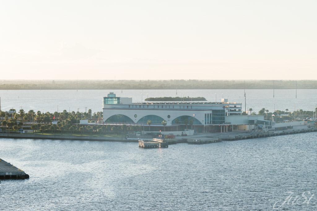 Blick auf das Hafengelände in Canaveral