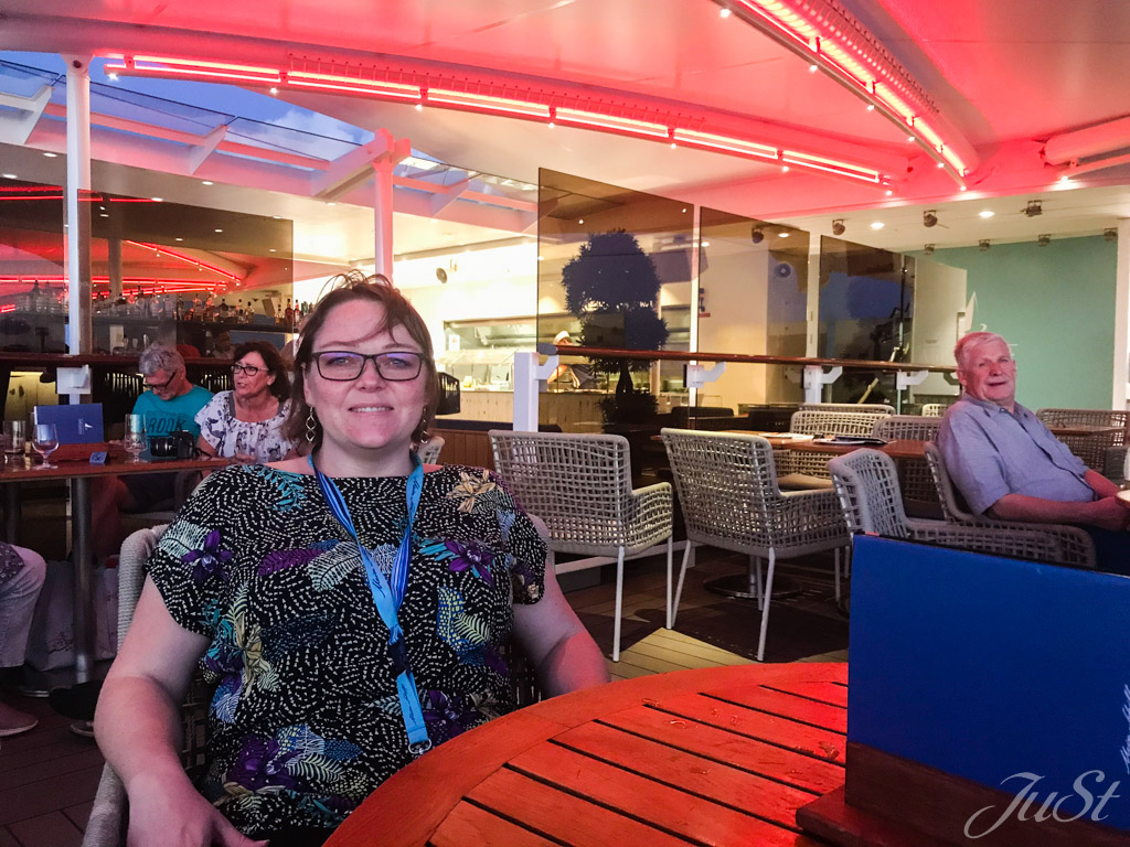 Jule auf der MS6 im Hafen von Canaveral