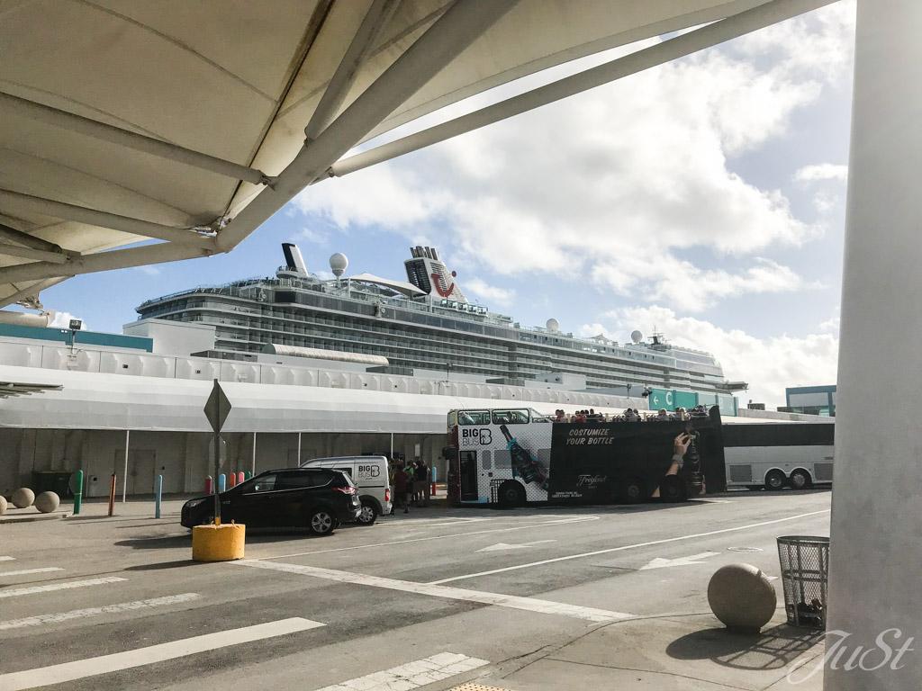 Mein Schiff 6 im Hafen von Miami