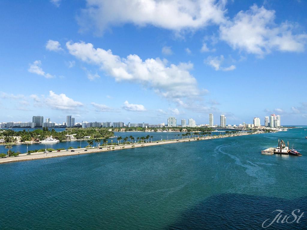 Blick auf Miami