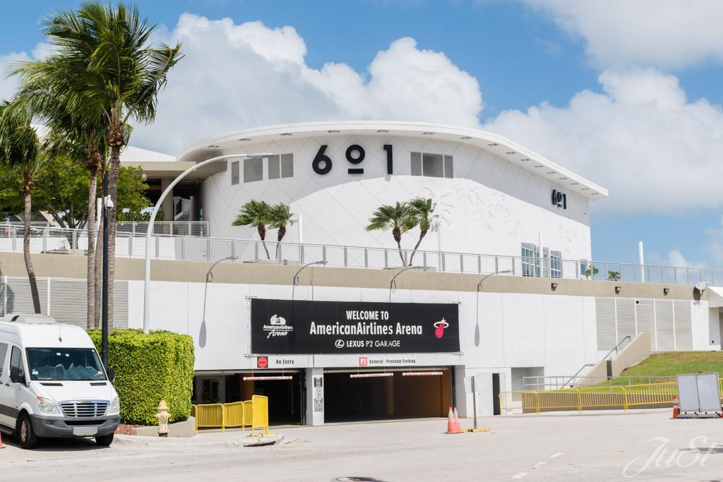 Eingang zur Miami Heat Halle