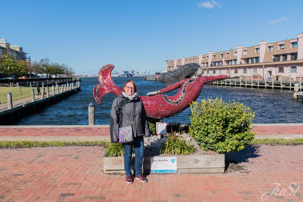 Jule und Meerjungfrau in Norfolk
