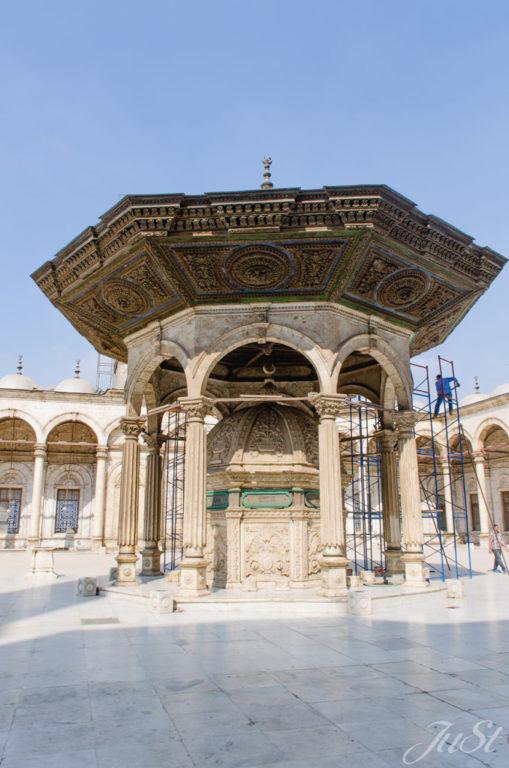 Innenhof der Moschee in Kairo