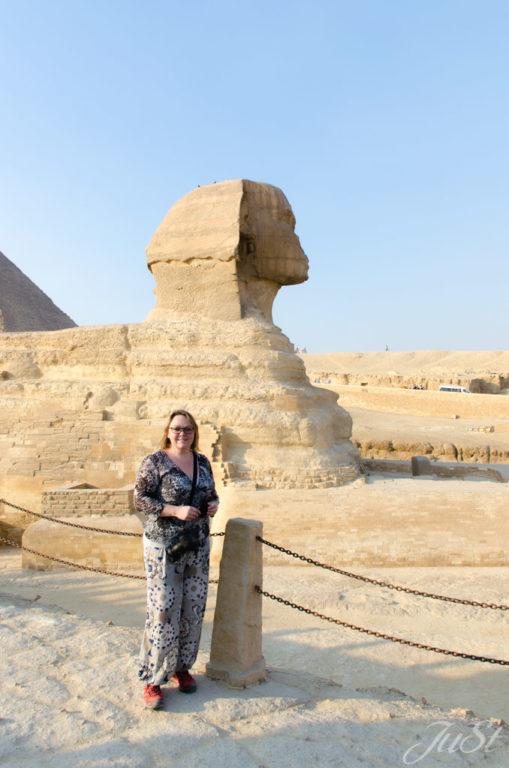 Jule und Große Sphinx von Gizeh