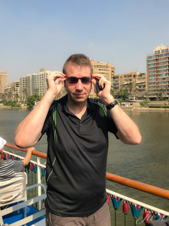 Alex auf dem Nil in Kairo