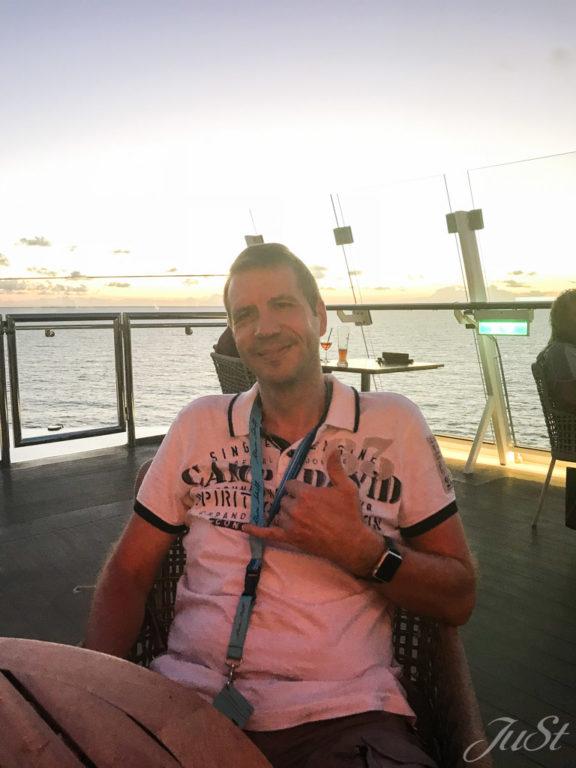Alex auf der MS6 im Hafen von Canaveral