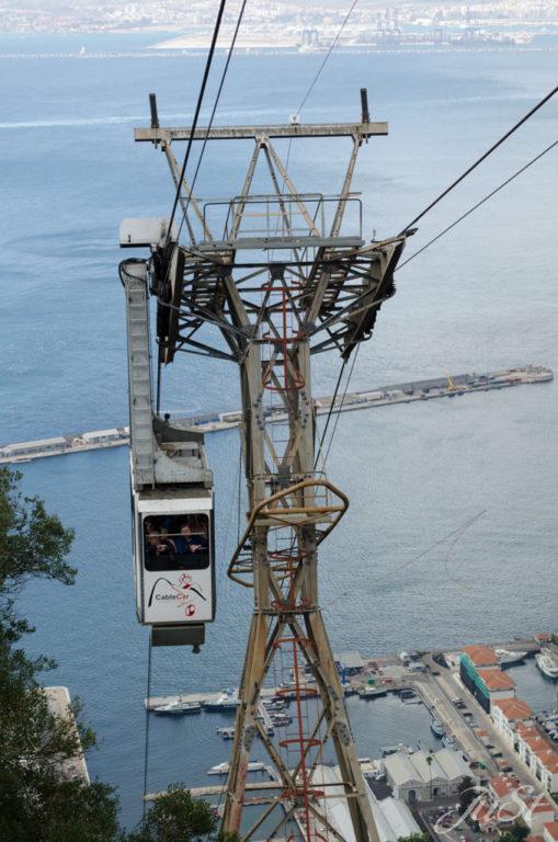 Bild Seilbahn zum Affenfelsen auf Gibraltar