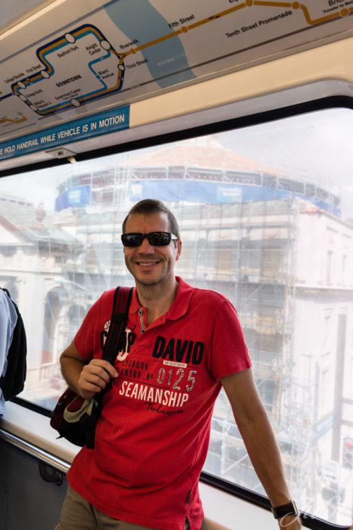 Alex im Metromover