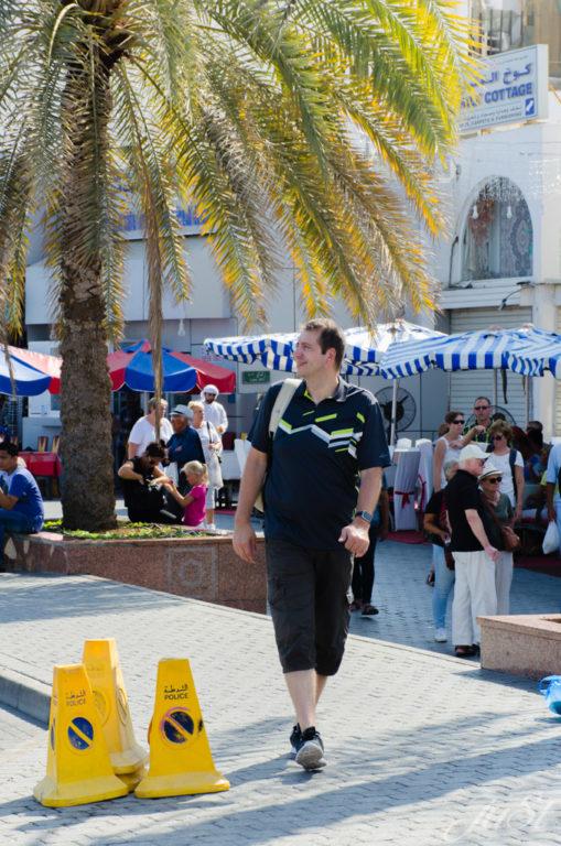 Alex vorm Markt in Muscat